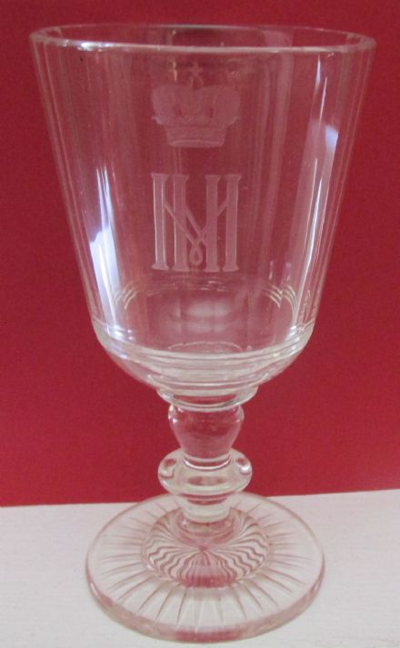 Antique Imperial Russian Glass for Grand Duke Nicholas Nikolaevich Romanov of Russia